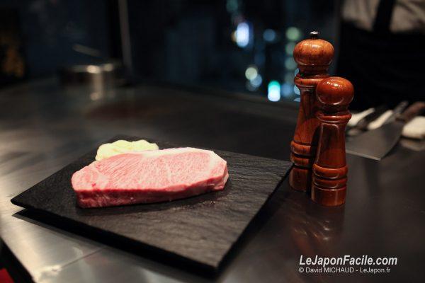 Teppanyaki, wagyu et boeuf de Kobe